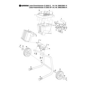 Gardena ELECTRONIC & WHEEL MOTOR HOUSING