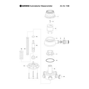 Запчасти для Gardena AUTOMATIC WATER DISTRIBUTOR
