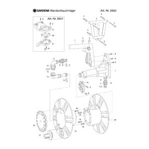 Запчасти для Gardena WALL FIXED HOSE REEL