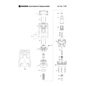 Запчасти для Gardena WATER DISTRIBUTOR AUTOMATIC