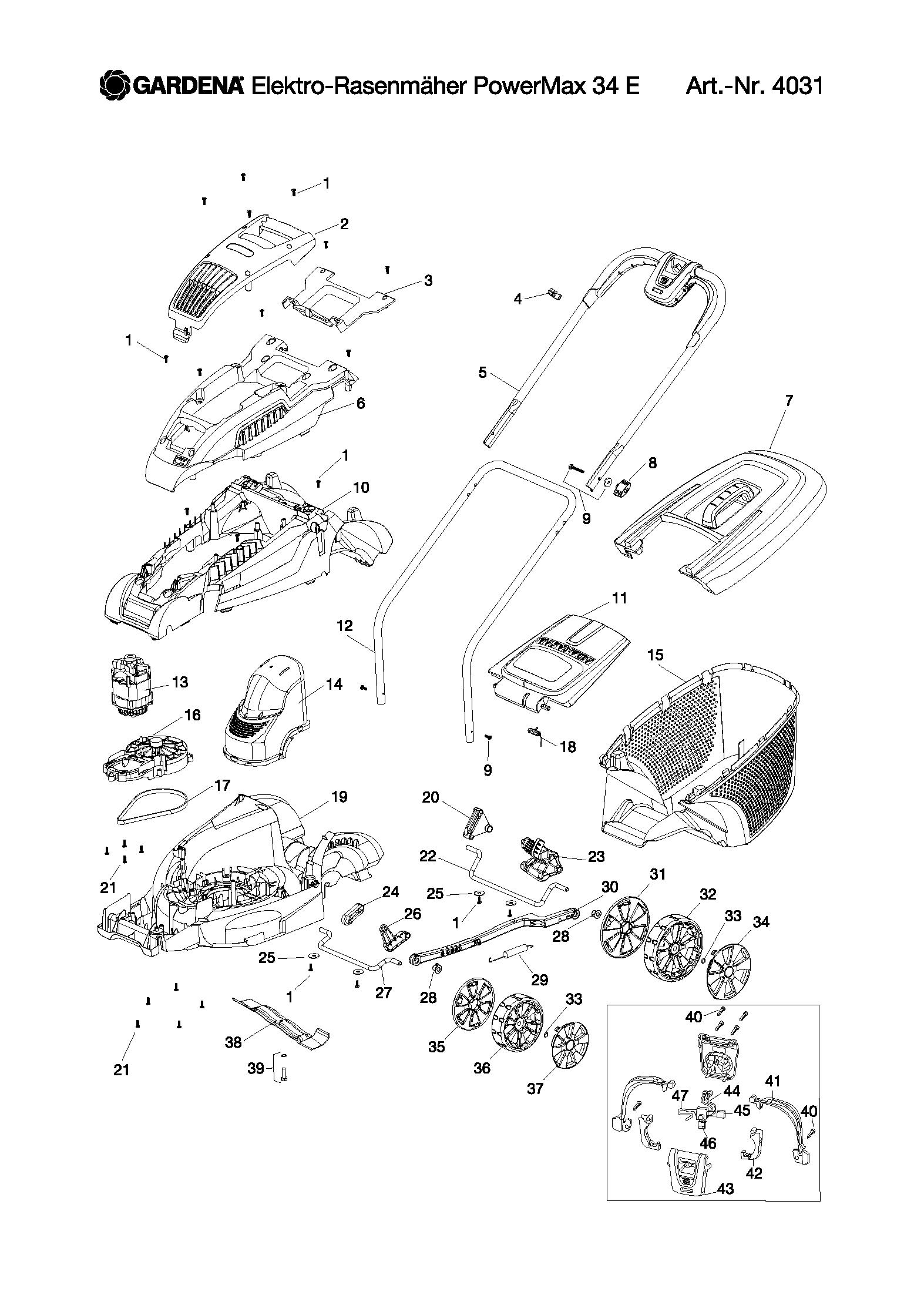 бесплатные двигатель для газонокосилки гардена 34 Управление