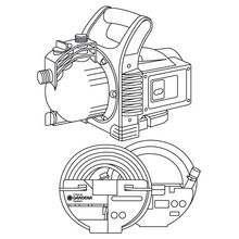 """Насос садовый 3000/4 Classic: комплект (заборный шланг 3,5 м с фильтром и обратным клапаном; садовый шланг Classic 1/2"""" 20 м; соединительные элементы; наконечник для полива)"""